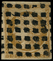 O FRANCE - Poste - 1, Gros Points: 10c. Bistre-jaune - 1849-1850 Ceres