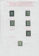 O FRANCE - Poste - 2, Ensemble De Nuances Dont Vert Foncé Et Vert Très Foncé, Oblitérations étoile, Grille, Tous Défectu - 1849-1850 Ceres