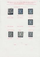 O FRANCE - Poste - 4, Petite étude De 17 Unités Oblitérées, Une Paire Et 3 Lettres, Quelques Exemplaires En Qualité TTB - 1849-1850 Ceres