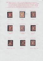 O FRANCE - Poste - 6, 8 Exemplaires, Oblitérations Et Nuances Diverses, B/TB - 1849-1850 Ceres