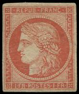 """(*) FRANCE - Poste - 7A, Superbe, Signé + Certificat Calves: 1f. Vermillon Pâle Dit """"Vervelle"""" - Unclassified"""