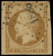 O FRANCE - Poste - 9, PC 1886, Amorce De Filet à Gauche, TTB: 10c. Présidence Bistre-jaune - 1852 Louis-Napoleon