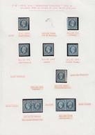 O FRANCE - Poste - 10, 6 Unités, 2 Paires, 2 Lettres Et Un Devant, Oblitérations PC Divers, Une Lettre Anneau Lune - 1852 Louis-Napoleon