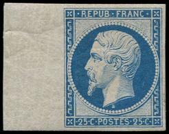 * FRANCE - Poste - 10c, Réimpression De 1862 Bord De Feuille, Grand Bdf à Gauche: 25c. Présidence Bleu - 1852 Louis-Napoleon
