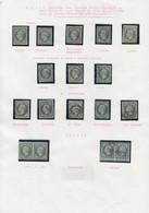 O FRANCE - Poste - 11, 1 Ex. *, 1 Exemplaire (*), 11 Unités, 2 Paires Et Un Devant, Oblitérations Diverses Dont Cad Roug - 1853-1860 Napoleon III