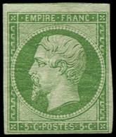 * FRANCE - Poste - 12, Signé Scheller, Marges Intactes: 5c. Vert - Unclassified