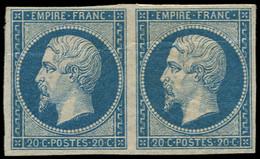 * FRANCE - Poste - 14B, Type II, En Paire, Pli Horizontal: 20c. Bleu - Unclassified