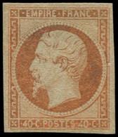 * FRANCE - Poste - 16, Réparé, Sinon TB D'aspect: 40c. Jaune-orange - 1853-1860 Napoleon III