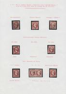 O FRANCE - Poste - 17A/17B, étude Sur 19 Unités, 2 Paires, Une Lettre Et Un Devant, Nuances Et Oblitérations Diverses Do - 1853-1860 Napoleon III