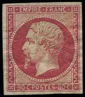 (*) FRANCE - Poste - 17B, Sans Gomme: 80c. Rose - 1853-1860 Napoleon III