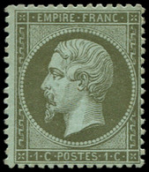 * FRANCE - Poste - 19, Signé Calves: 1c. Olive - 1862 Napoleon III