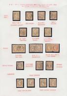 O FRANCE - Poste - 21, Petite étude De 14 Unités, 2 Paires Et Un Fragment, Oblitérations Diverses Dont OR, Ancre, PC Du  - 1862 Napoleon III