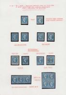 O FRANCE - Poste - 22, Petite étude Comportant 2 Exemplaires Neufs, 8 Unités, Une Bande De 3 Et Bloc De 4, Oblitérations - 1862 Napoleon III