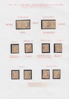 O FRANCE - Poste - 36, 8 Unités Et 2 Paires, Oblitération étoile Au GC - 1870 Siège De Paris
