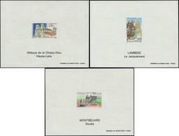 ** FRANCE - Blocs Spéciaux - 2825/27, 3 Feuillets: Série Touristique 1993 - Autres