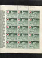 Belgie 1939 F503 Monarchie Elisabeth RED CROSS  FULL SHEET Of 15 MNH RRR OCB 525€ - Velletjes