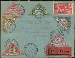 """LET FRANCE - 1° Vols - 09/6/24, """"Vincennes Aviation"""", Enveloppe, Série De 6 Semi-officiels - Premiers Vols"""