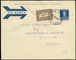 LET FRANCE - 1° Vols - 01/3/28, Buenos Aires/Natal/Toulouse, Aéropostale, Enveloppe Entier 12c. Bleu - Premiers Vols