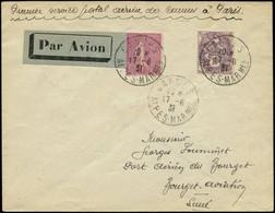 LET FRANCE - 1° Vols - 17/8/31, Cannes/Paris, Enveloppe, Seulement 500gr. De Courrier (Saul 31) - Premiers Vols