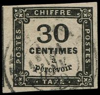 O FRANCE - Taxe - 6, Signé Calves: 10c. Noir - 1859-1955 Used