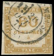 O FRANCE - Taxe - 8, Signé Scheller: 60c. Jaune-bistre - 1859-1955 Used