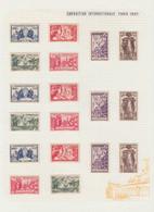 * COLONIES SERIES - Poste - 1937, Exposition Internationale De Paris, Complet Poste + Bf - Non Classés