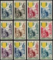 ** COLONIES SERIES - Poste - 1952, Médaille Militaire, Complet 12 Valeurs - Autres