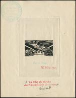 EPA COLONIES SERIES - Poste Aérienne - 1946, Anniversaire De La Victoire, épreuve D'artiste, Bon à Tirer En Noir, Datée  - Autres