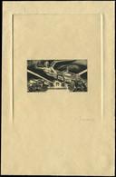 EPA COLONIES SERIES - Poste Aérienne - 1946, Anniversaire De La Victoire, épreuve En Noir, Sans Faciale Et Pays, Signée  - 1946 Anniversaire De La Victoire
