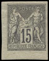 * COLONIES GENERALES - Poste - 33, Signé Brun, Très Belles Marges: 15c. Gris - Sage