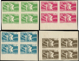 ** COLONIES GENERALES - Poste - 60/63, En Blocs De 4, Non Dentelés, Bdf: Aide Aux Combattants - Autres