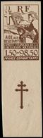 ** COLONIES GENERALES - Poste - Maury 76: 65h, Essai De Couleur Non Dentelé, Marron Fond Blanc: Aide Aux Résistants - Autres