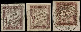 O COLONIES GENERALES - Taxe - 15/17, Oblitérations Superbes - Non Classés