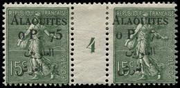 """* ALAOUITES - Poste - 3, Paire Millésime """"4"""", 1 Exemplaire Chiffre """"5"""" Quasi Effacé - Neufs"""