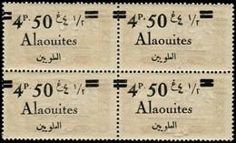 ** ALAOUITES - Poste - 44, Bloc De 4, Surcharge Recto-verso - Neufs