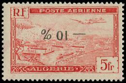 ** ALGERIE - Poste Aérienne - 1A, Surcharge Renversée, Signé Scheller (Maury) - Poste Aérienne
