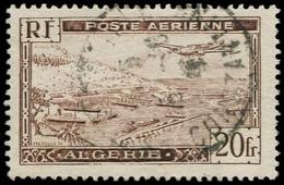 O ALGERIE - Poste Aérienne - 4A, Type II: 20f. Brun - Poste Aérienne