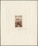 EPA ALGERIE - Poste Aérienne - 13, épreuve D'artiste En Brun, Signée Barlangue - Poste Aérienne