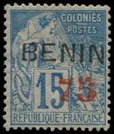 * BENIN - Poste - 16, Signé + Certificat Roumet: 75 S. 15c. Bleu - Unused Stamps