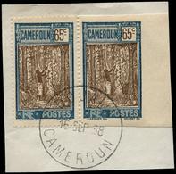 O CAMEROUN - Poste - 122, Dentelé Tenant à Non Dentelé Accidentel Sur Fragment (Maury) - Oblitérés