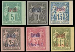 (*) CAVALLE - Poste - 1 + 3 + 5/8, Série Complète De 6 Non Dentelés Sur Papier épais (ni Carton, Ni Bristol), Type II, B - Non Classés