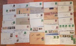 Algérie - Lot De 32 Lettres Avec Surchargés EA - Départ 1 Euro - Covers & Documents