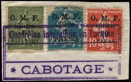 """O CILICIE - Poste - 82/84, Sur Fragment, """"service Maritime"""" (83 Défauts) - Oblitérés"""