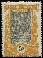 * CONGO - Poste - 41a, 5F Moutarde Et Noir Signé Calves (taches De Rouille) - Ungebraucht