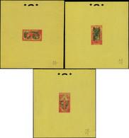 EPA CONGO - Poste - 48/64, 3 épreuves D'artistes Sans Faciale Type B/c/d - Ungebraucht