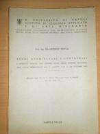 NAPOLI PROF ING. FRANCESCO PENTA 1941 STUDI GEOMINERARI E GEOTECNICI ITALIA MERIDIONALE - Matematica E Fisica