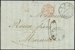 LET CRETE FR. - Poste - Enveloppe De La Canée (Crète) Pour Marseille 21/4/43, Départ 9/4, Transit Syra 10/4, Par Bateau  - Unclassified