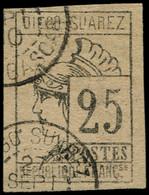 O DIEGO-SUAREZ - Poste - 9, Signé Scheller: 25c. Gris-noir - Used Stamps