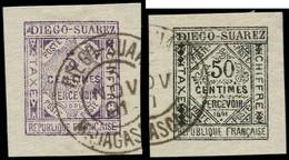 O DIEGO-SUAREZ - Taxe - 1/2, Signé Brun - Other