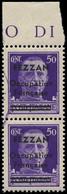 ** FEZZAN - Poste - 1, En Paire, Maculature Violette, Signé Calves: 50c. Violet - Neufs